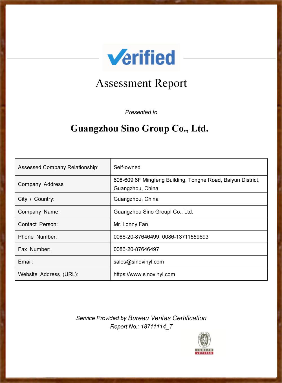 SINO GROUP Bureau Veritas Certification