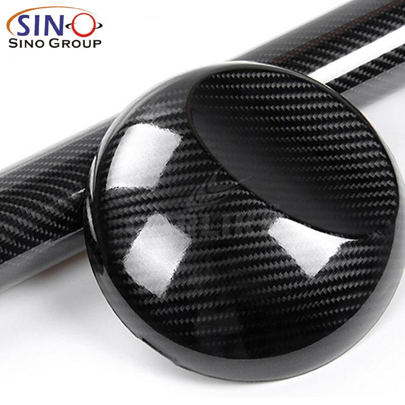 CL-6DCF Vinyle en fibre de carbone super brillant 6D