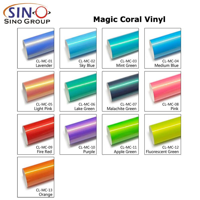 CL-MC Film d'emballage de voiture en vinyle corail magique