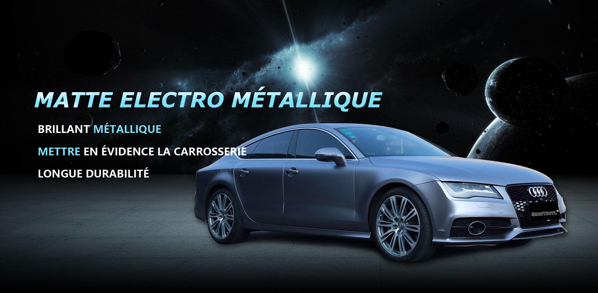 CARLIKE CL-EM Emballage de voiture en vinyle électro métallisé mat